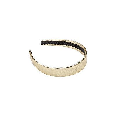 Karina Gold Metallic Snake Print Headband