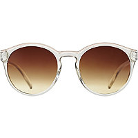 Starlight Transparent Round Sunglasses