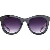Starlight Black & Floral Mod Wayfarer Sunglasses