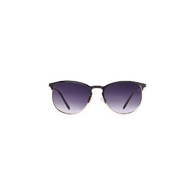 Starlight Metal Frame Black & Gold Club Master Sunglasses