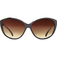 Starlight Black Metal Accented Cateye Sunglasses