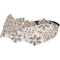 Capelli New York Gold Floral Head Wrap With Gems