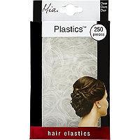 Mia Plastic Elastics No Slip Clear 250 Ct