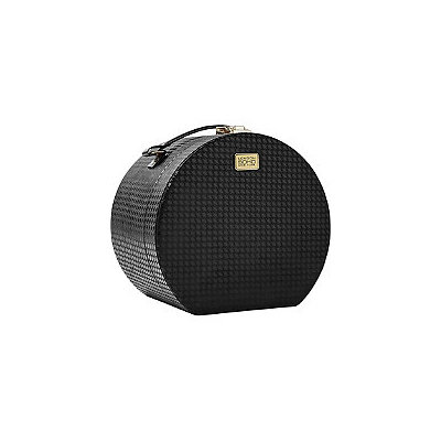 Soho Houndstooth Round Train Case