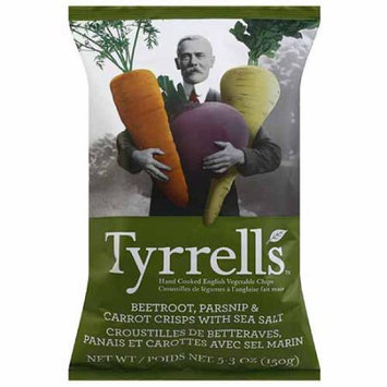 Generic Tyrrell's Beetroot, Parsnip, & Carrot Crisps with Sea Salt Hand Cooked English Vegetable Chips, 5.3 oz, (Pack of 12)