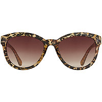 Starlight Cateye Bling Leopard Print Sunglasses