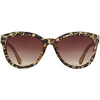 Starlight Cateye Bling Leopard Print Sunglasses