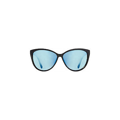 Starlight Black Cateye Sunglasses with Blue Mirror Lens