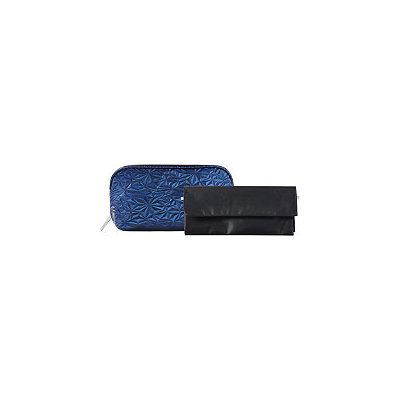 Tartan + Twine Armory Stone Blue Clutch & Brush Roll Set