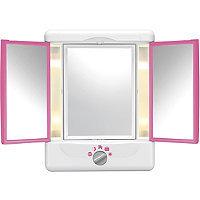 Conair Tri Fold Pink Colorblock Mirror