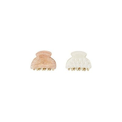 Riviera Pearl And Arrow Small Claw Set 2pc