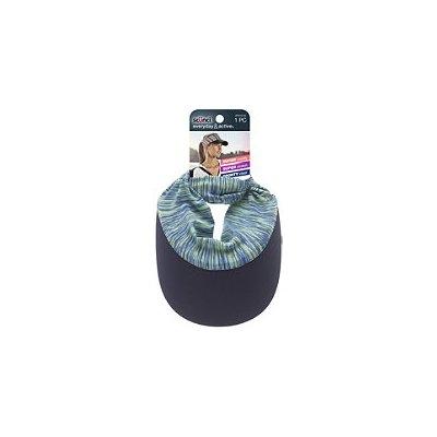 Scunci Head Wrap Visor Green & Navy