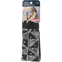 Scunci Turban Head Wrap Pleat Black &White Linear