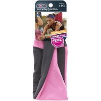 Scunci Head Wrap Luxe Stretch Gray/Pink