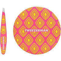 Tweezerman Moroccan Oasis Mini Slant Tweezer & Mirror Duo