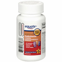 Equate Children's Complete Assorted Fruit Flavor Chewable Multivitamin/Multimineral Supplement