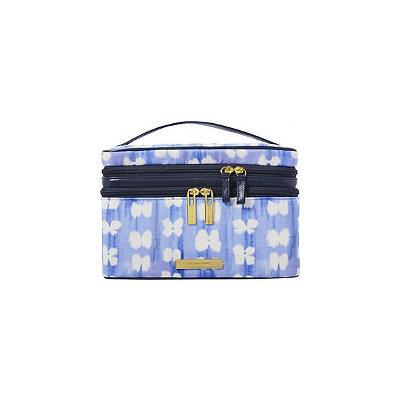 Tartan + Twine Blue Aster Double Zip Train Case