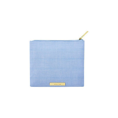 Tartan + Twine Blue Aster Square Clutch Embroidery