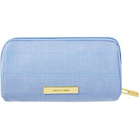 Tartan + Twine Blue Aster Pencil Case Embroidery