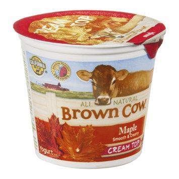 Brown Cow Cream Top Yogurt Maple All Natural