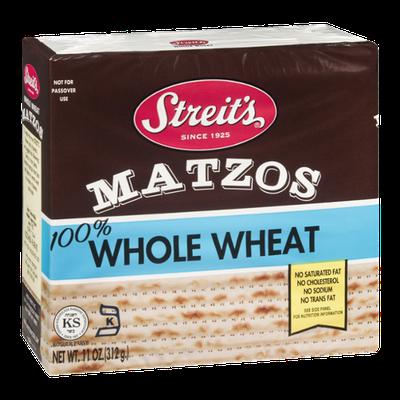 Streit's Matzos 100% Whole Wheat