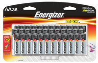 Energizer E91SBP36H Max Alkaline Batteries, AA, 36 Batteries/Pack