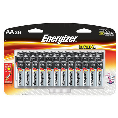 Energizer E91SBP36H Max Alkaline Batteries, AA, 36 Batteries/Pack