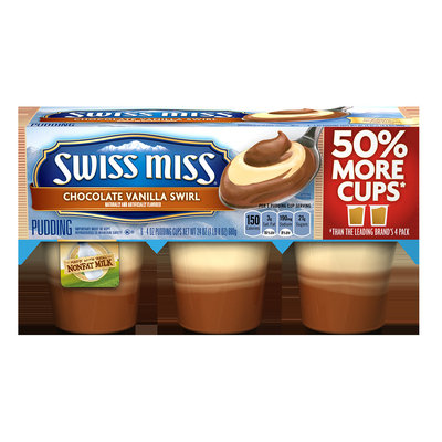 Swiss Miss Pudding Chocolate Vanilla Swirl Naturally and Artificially Flavored