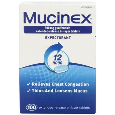 Mucinex 12-Hour Chest Congestion Expectorant Tablets, 100 Count