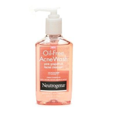 Neutrogena Oil-Free Pink Grapefruit Acne Wash Facial Cleanser