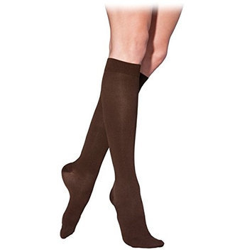 Sigvaris Cotton 232CXLW99-S 20-30 mmHg Womens With Grip Top Socks Black - Extra Large Long