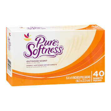 Ahold Pure Softness Fabric Softener Dryer Sheets Outdoor Scent - 40 CT