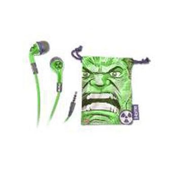 KIDdesigns Hulk Earphones with Pouch