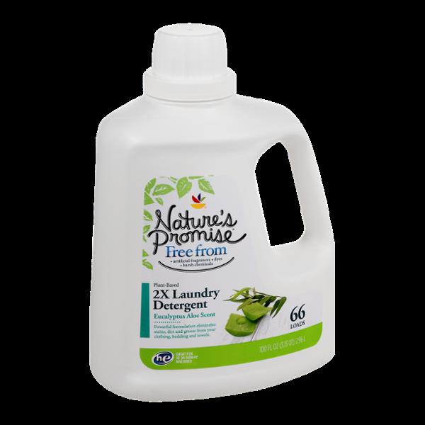 Nature's Promise 2X Laundry Detergent Eucalyptus Aloe Scent