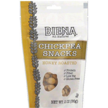 Biena All Natural Honey Roasted Chickpea Snacks, 2 oz, (Pack of 12)