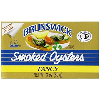Brunswick Smoked Oysters, 3-Ounce Tins (Pack of 12)