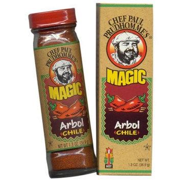 Magic Seasoning Blends Arbol Chile, 1.3-Ounce Bottles (Pack of 6)