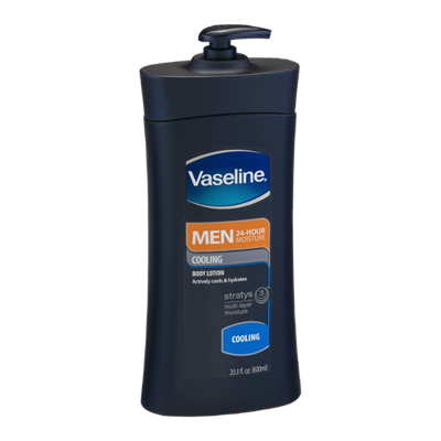 Vaseline Men 24-Hour Moisture Body Lotion Cooling