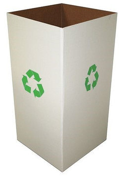 Value Brand Recycle Collection Box, Color Clay White, 18