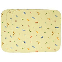 Carter's Carters Keep Me Dry Flannel Lap Pads, Ecru, 3 Count, Animal (Discontinued by Manufacturer)