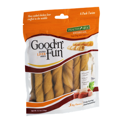 Good 'n' Fun Stuffed Liver Twists - 6 PK