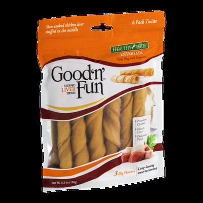 Good 'n' Fun Stuffed Liver Twists - 6 PK
