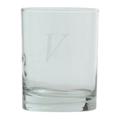 T&C Innovators Block Monogram Double Old Fashioned Set of 4 - V