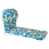 Jordan Outdoor Euro Style Chaise Lounge Cushion - Blue/Green Floral