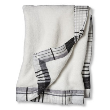 Castle Hill Baby Blanket GRY WHT BLK