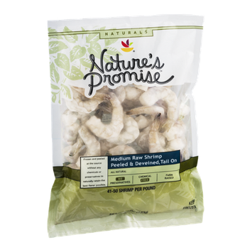 Nature's Promise Naturals Medium Raw Shrimp Peeled & Deveined, Tail On