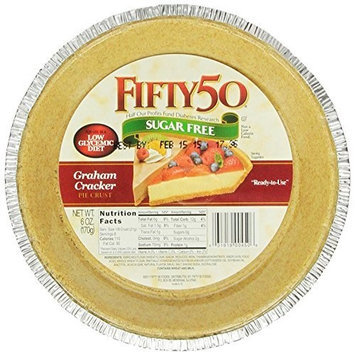 Fifty 50 Fifty-50 Sugar-Free Graham Cracker Pie Crust, 6-Ounce Units (Pack of 12)