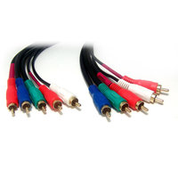 Micro Connectors 6' Components Cable 5 RCA M to 5 RCA M