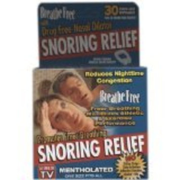 Breathe Free Snoring Relief As Seen On TV Mentholated (1 box of 30)