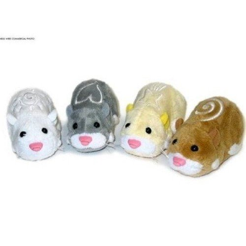 Topcare Zhu Zhu Pets Set of 4 Hamster Toys Squiggles, Num Nums, Chunk & Pipsqueak